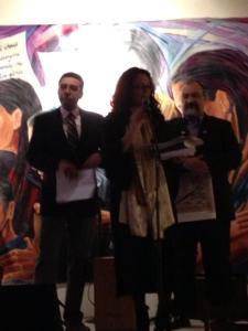 Presentacion del numero 100, con Moira Pujols y Jochy Herrera