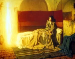 El encuentro entre Maria y el arcangel.