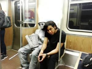 Marzana, de viaje por el tren de Chicago
