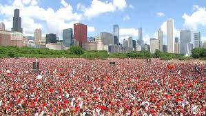 Grant Park, en Chicago, para ver el EU vs Portugal