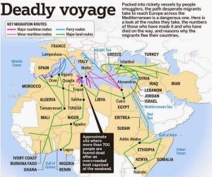 Mediterranean migrant voyages -ST Graphics