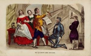 Don Quijote, armado caballero
