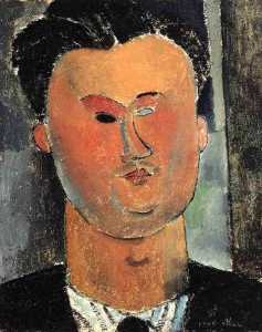 Reverdy, retratado por Modigliani en 1915.