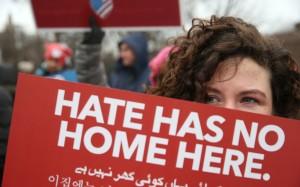 Manifestación en Oak Park, Illinois, en pro de la declaración de Ciudad Santuario, 5 de febrero, 2017, foto del Chicago Tribune
